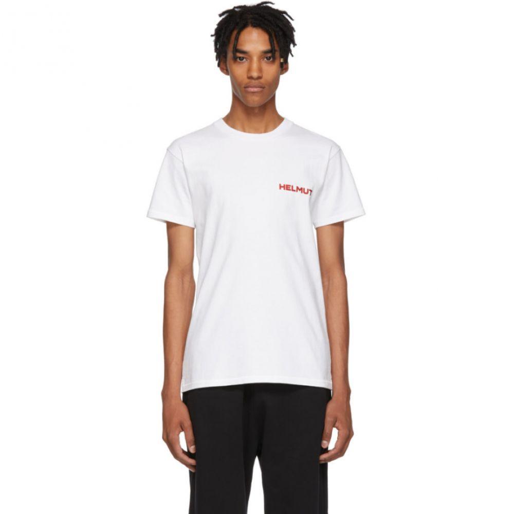 ヘルムート ラング Helmut Lang メンズ トップス Tシャツ【SSENSE Exclusive White Brian Roettinger Logo Hack T-Shirt】