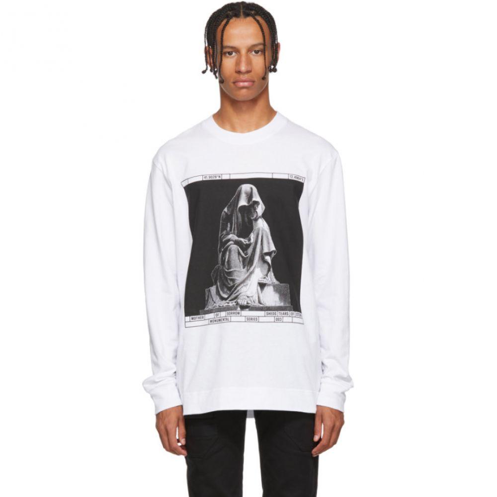 ノーメンクラトゥーラ Nomenklatura Studio メンズ トップス 長袖Tシャツ【White Limited Edition Monuments Long Sleeve T-Shirt】