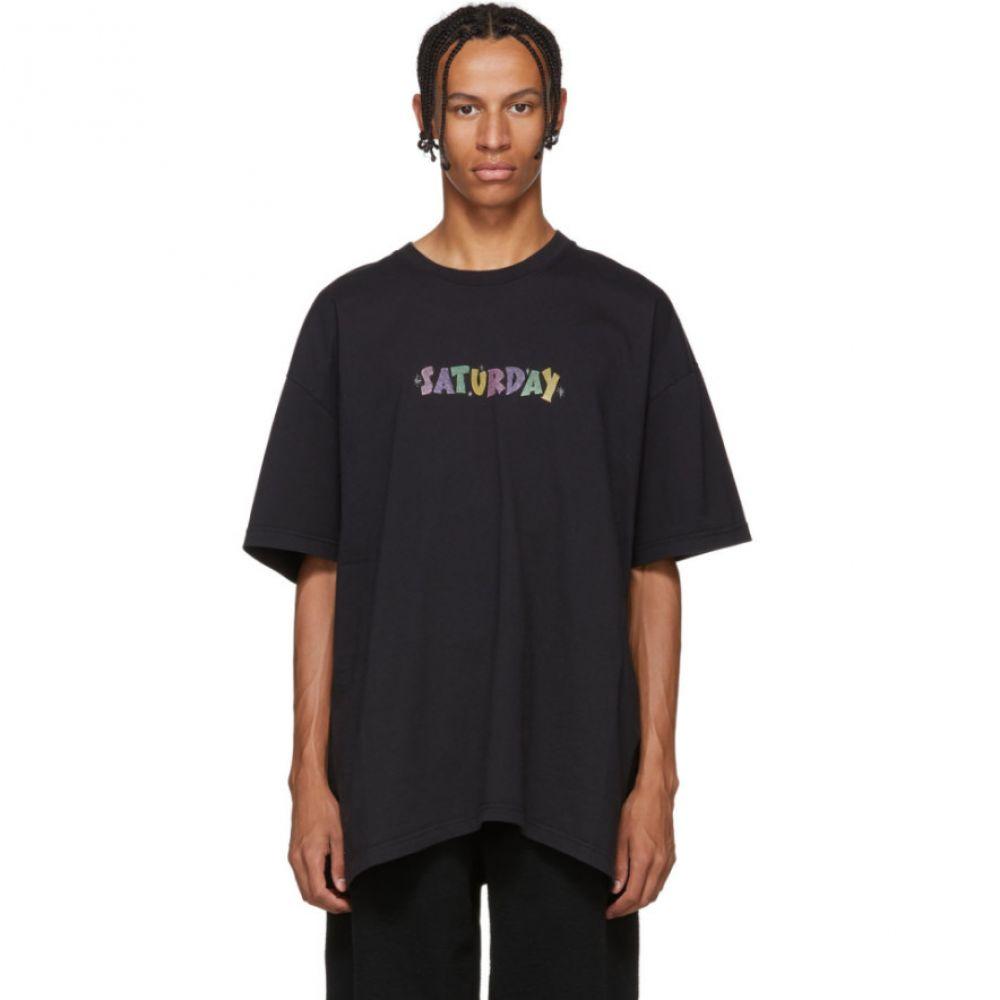 ヴェトモン Vetements メンズ トップス Tシャツ【Black 'Saturday' Weekday T-Shirt】