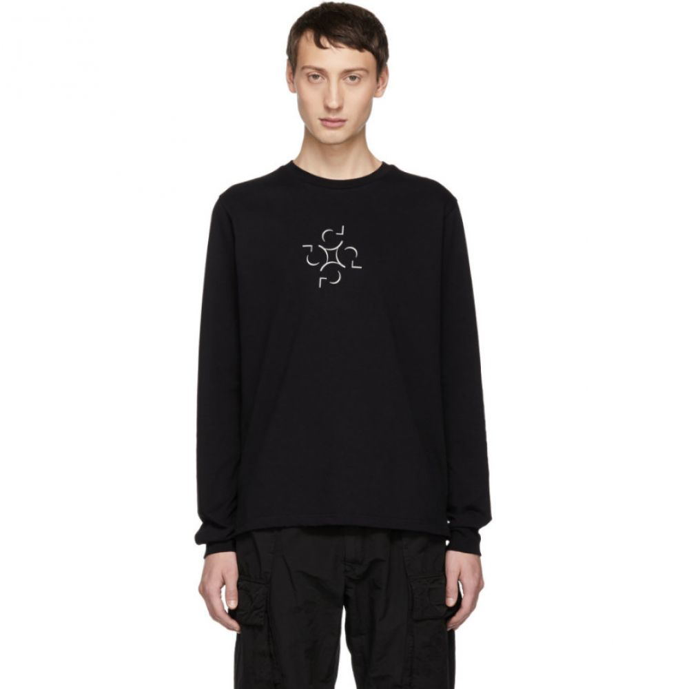 コットワイラー Cottweiler メンズ トップス 長袖Tシャツ【SSENSE Exclusive Black Graphic Long Sleeve T-Shirt】