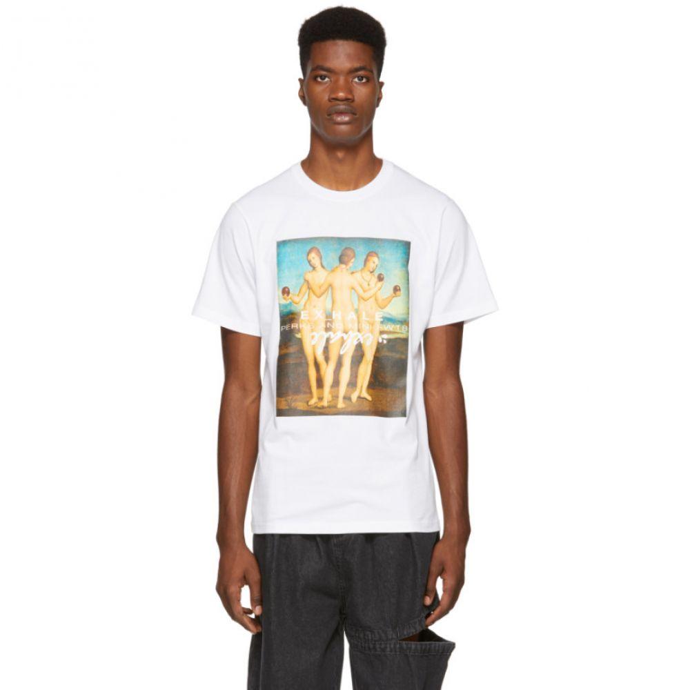 パークスアンドミニ Perks and Mini メンズ トップス Tシャツ【White Three Graces T-Shirt】