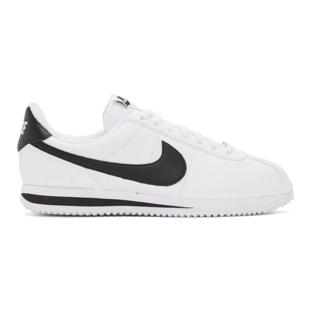 ナイキ Nike メンズ シューズ・靴 スニーカー【White Leather Basic Cortez Sneakers】