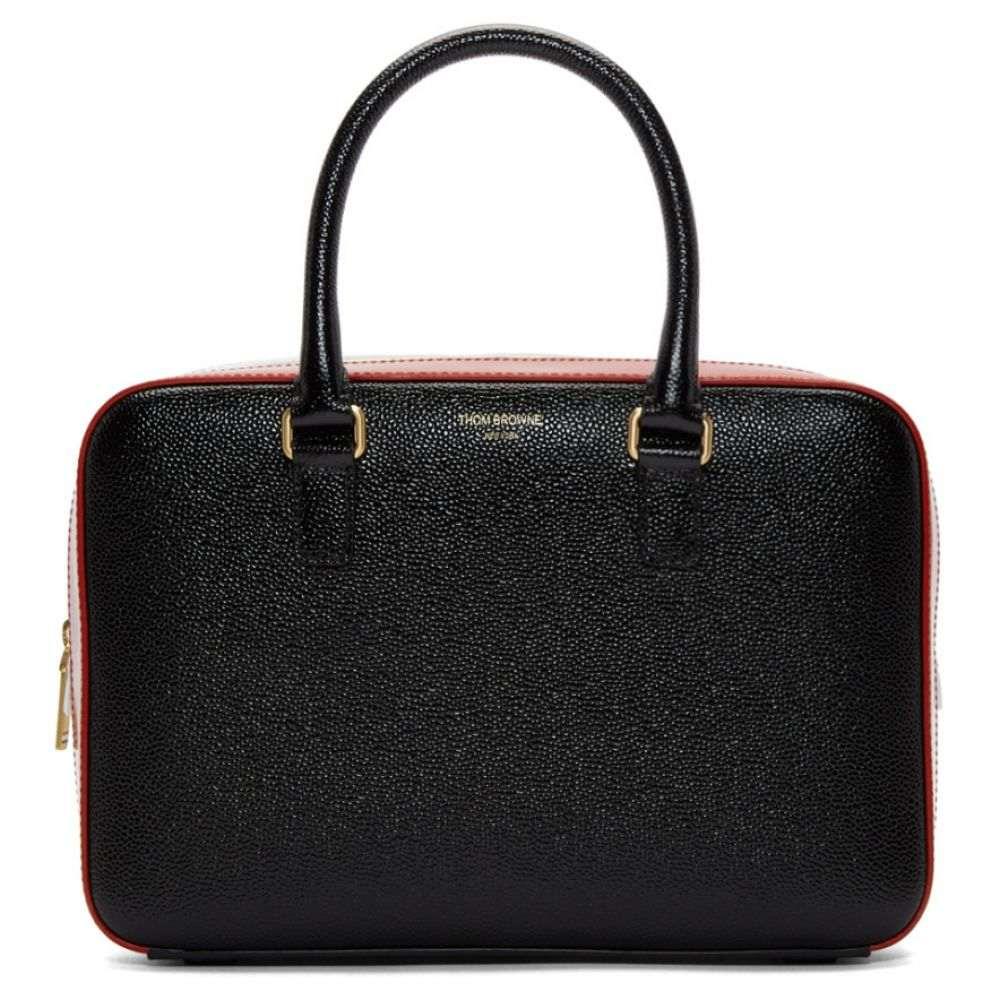 トム ブラウン Thom Browne レディース バッグ ボストンバッグ・ダッフルバッグ【Black Junior Tricolor Business Duffle Bag】