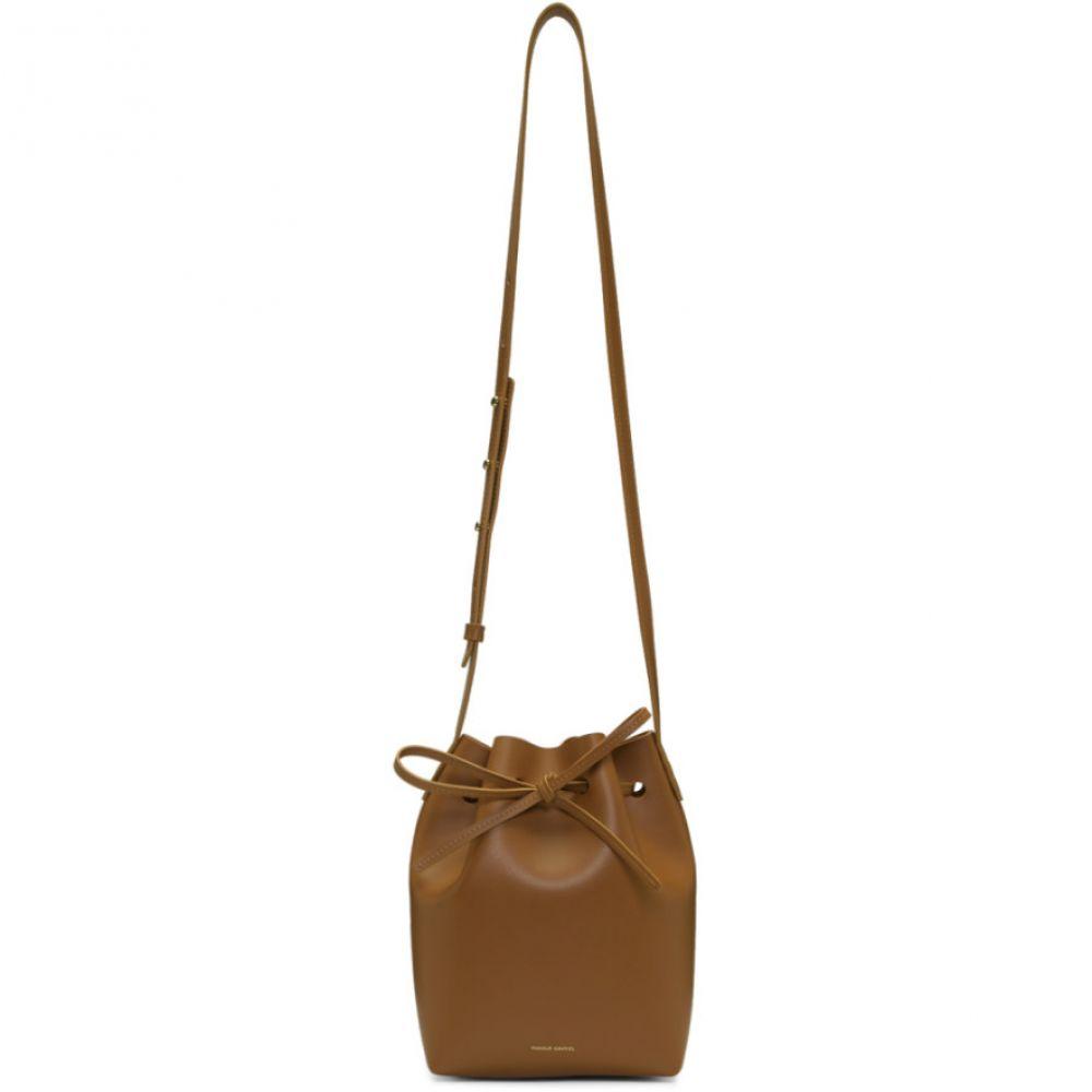 マンサーガブリエル Mansur Gavriel レディース バッグ ショルダーバッグ【Brown Mini Bucket Bag】