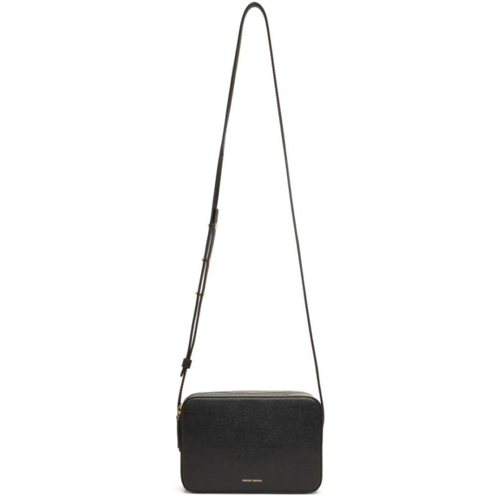 マンサーガブリエル Mansur Gavriel レディース バッグ ショルダーバッグ【Black Double Zip Crossbody Bag】