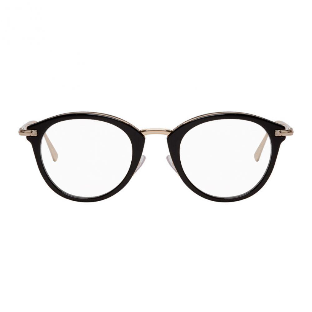 トム フォード Tom Ford レディース メガネ・サングラス【Black & Gold Round Glasses】