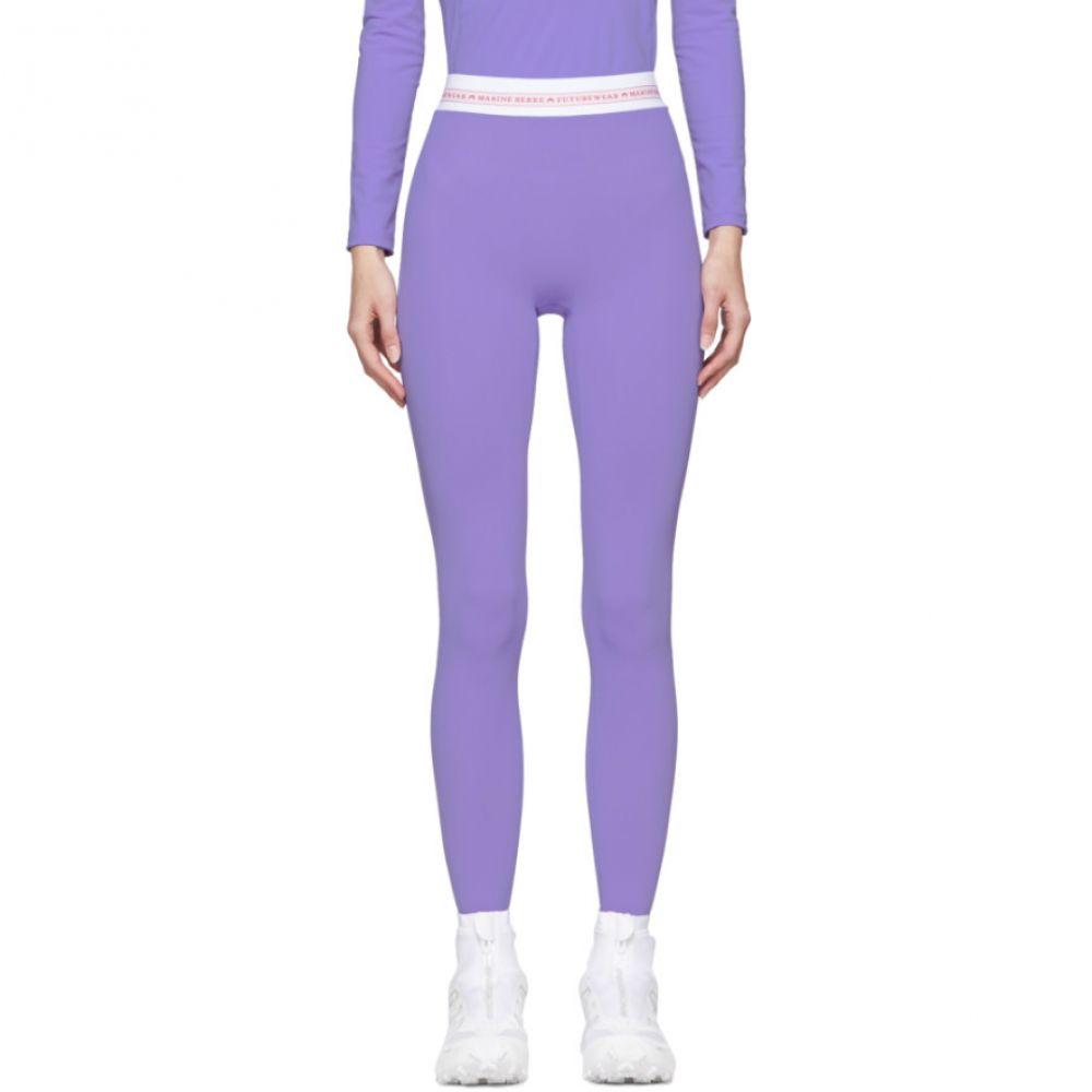 マリーン セル Marine Serre レディース インナー・下着 スパッツ・レギンス【Purple Jersey Leggings】