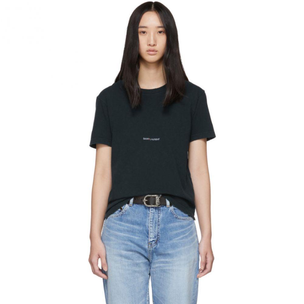 イヴ サンローラン Saint Laurent レディース トップス Tシャツ【Green Rive Gauche Logo T-Shirt】