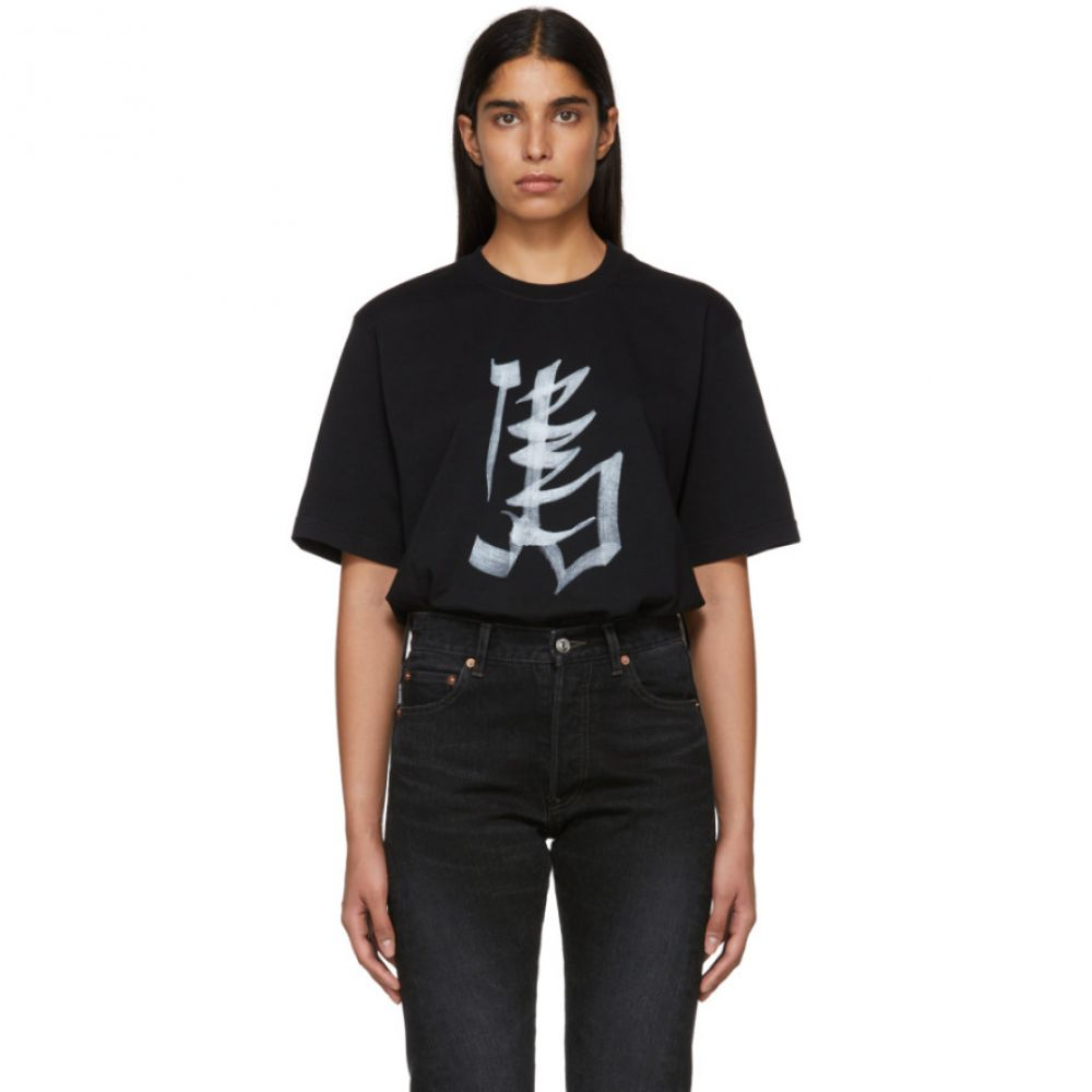 ヴェトモン Vetements レディース トップス Tシャツ【Black Horse Chinese Zodiac T-Shirt】