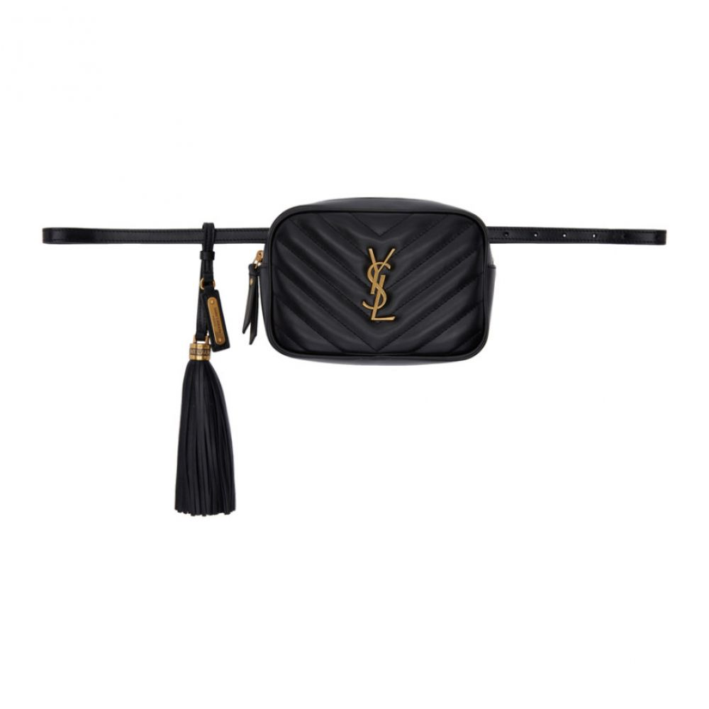 イヴ サンローラン Saint Laurent レディース バッグ ボディバッグ・ウエストポーチ【Black Lou Belt Bag】
