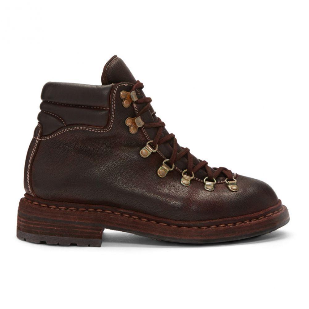 グイディ Guidi メンズ ハイキング・登山 シューズ・靴【Burgundy Hiking Boots】