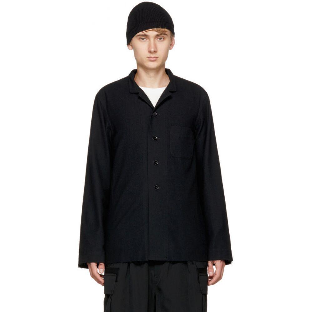 タカヒロミヤシタザソロイスト TAKAHIROMIYASHITA TheSoloist. メンズ インナー・下着 パジャマ・トップのみ【Black Nehru Collar Pajama Shirt】