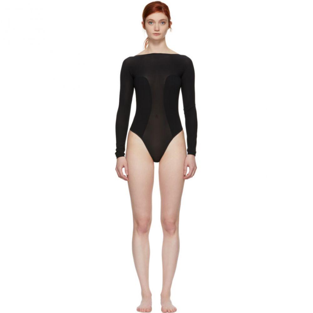 キキ ド モンパルナス Kiki de Montparnasse レディース インナー・下着 ボディースーツ【Black Backless Bodysuit】