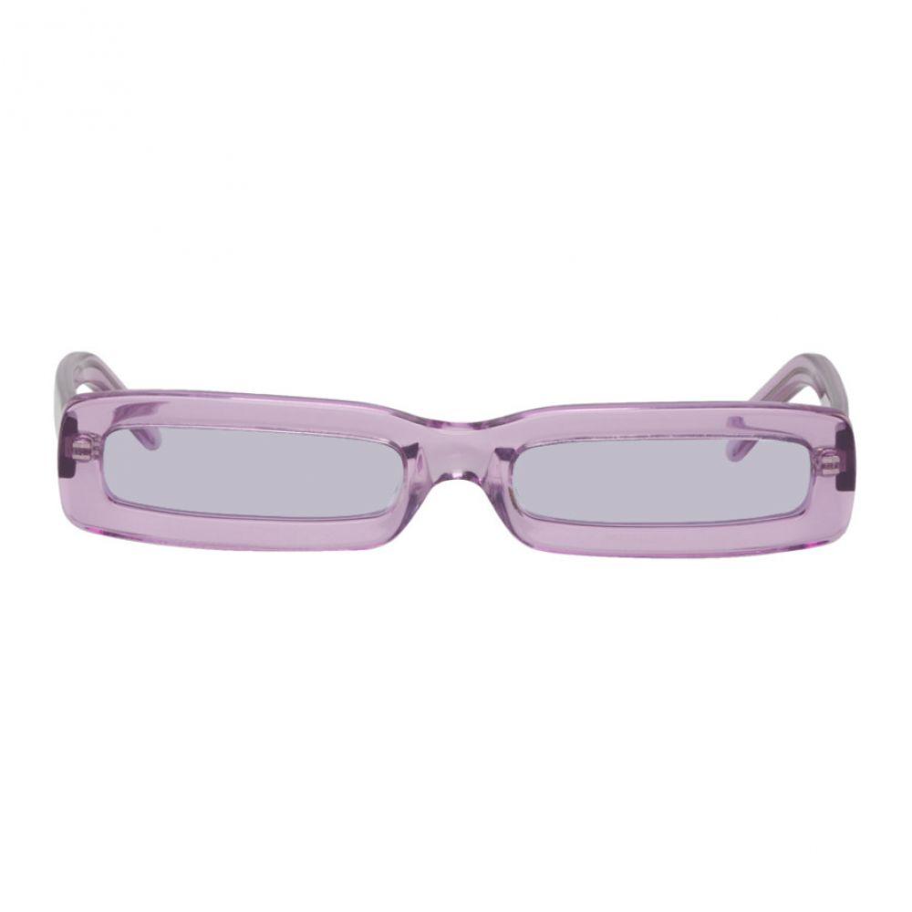 ゲオルゲ ケブリア George Keburia レディース メガネ・サングラス【SSENSE Exclusive Purple Rectangular Sunglasses】