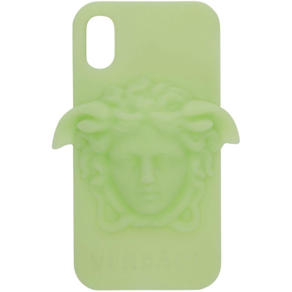ヴェルサーチ Versace レディース iPhone (X)ケース【Green 3D Medusa iPhone X Case】