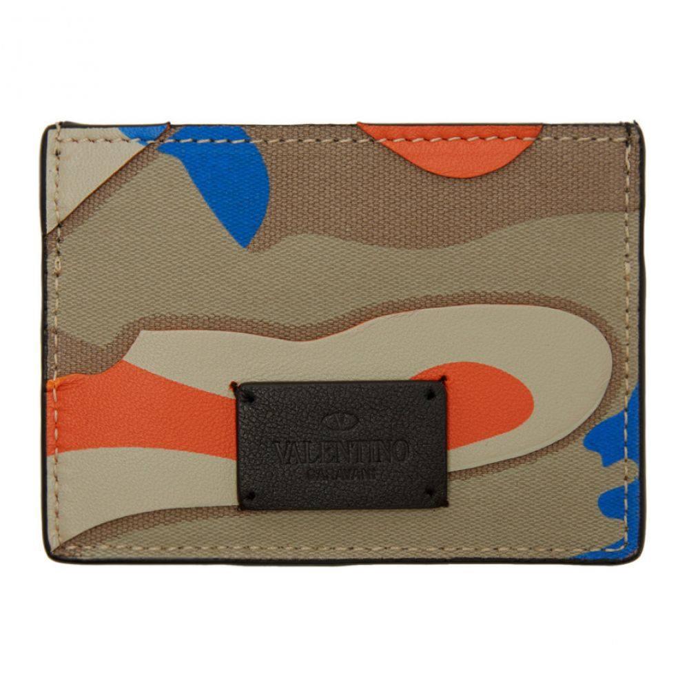 ヴァレンティノ Valentino メンズ カードケース・名刺入れ【Blue & Orange Garavani Camo Card Holder】