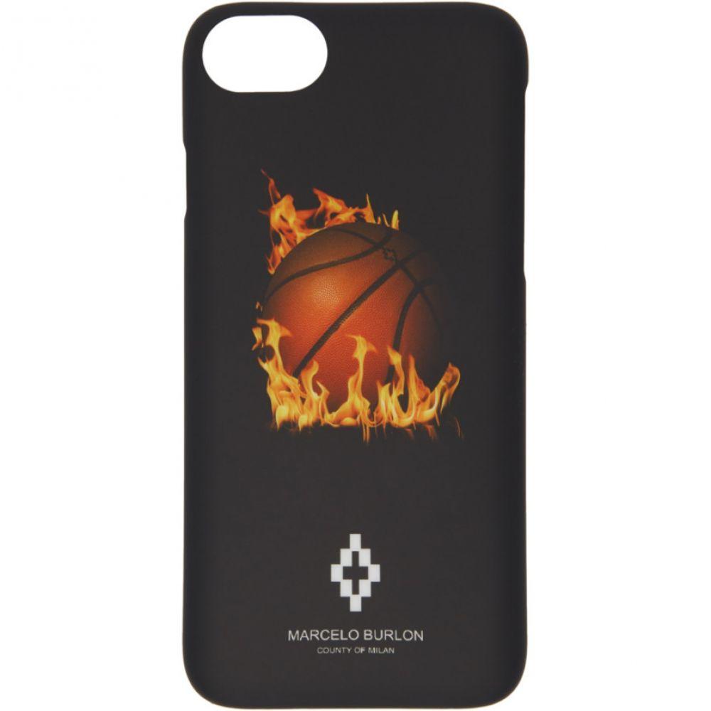 マルセロバーロン Marcelo Burlon County of Milan メンズ iPhone (8)ケース【Black Fireball iPhone 8 Case】