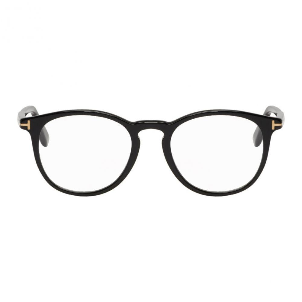トム フォード Tom Ford メンズ メガネ・サングラス【Black Soft Round Glasses】
