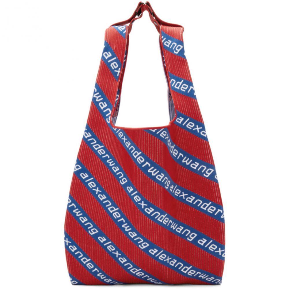 アレキサンダー ワン Alexander Wang メンズ バッグ トートバッグ【Red & Blue Knit Jacquard Shopper Tote】