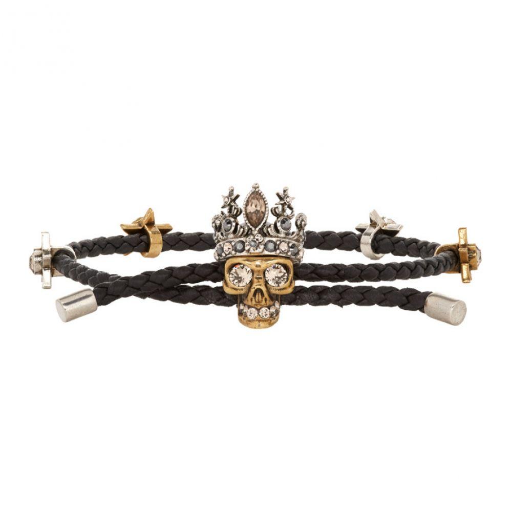 アレキサンダー マックイーン Alexander McQueen レディース ジュエリー・アクセサリー ブレスレット【Black Queen Friendship Bracelet】