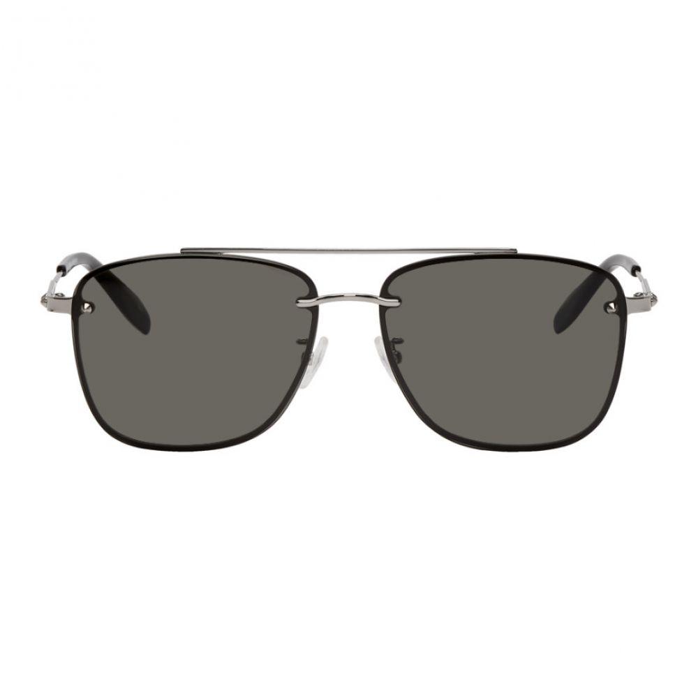アレキサンダー マックイーン Alexander McQueen メンズ メガネ・サングラス【Grey Rimless Sunglasses】