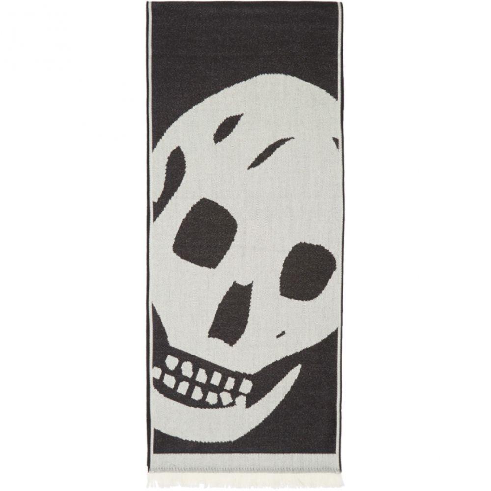 アレキサンダー マックイーン Alexander McQueen メンズ マフラー・スカーフ・ストール【Black Oversized Skull Scarf】