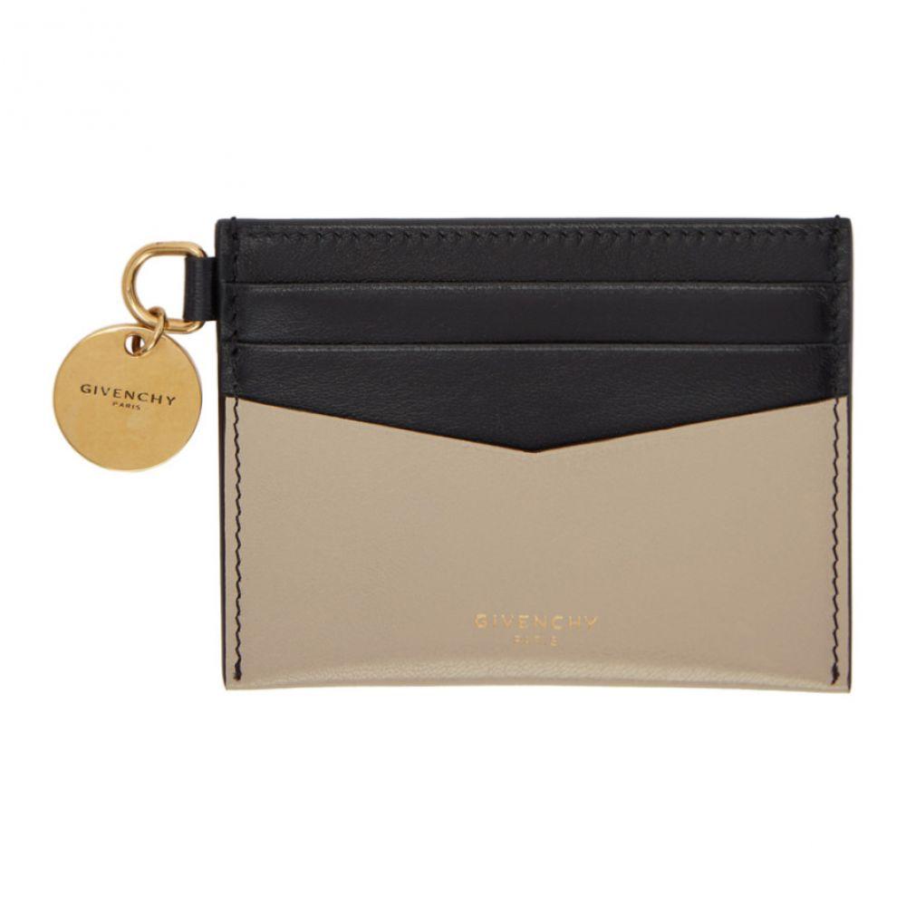 ジバンシー Givenchy レディース カードケース・名刺入れ【Beige & Black Edge Card Holder】