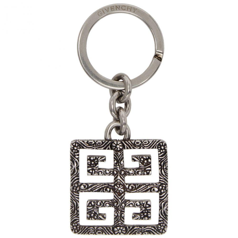 ジバンシー Givenchy メンズ キーホルダー【Silver 4G Engraved Keychain】