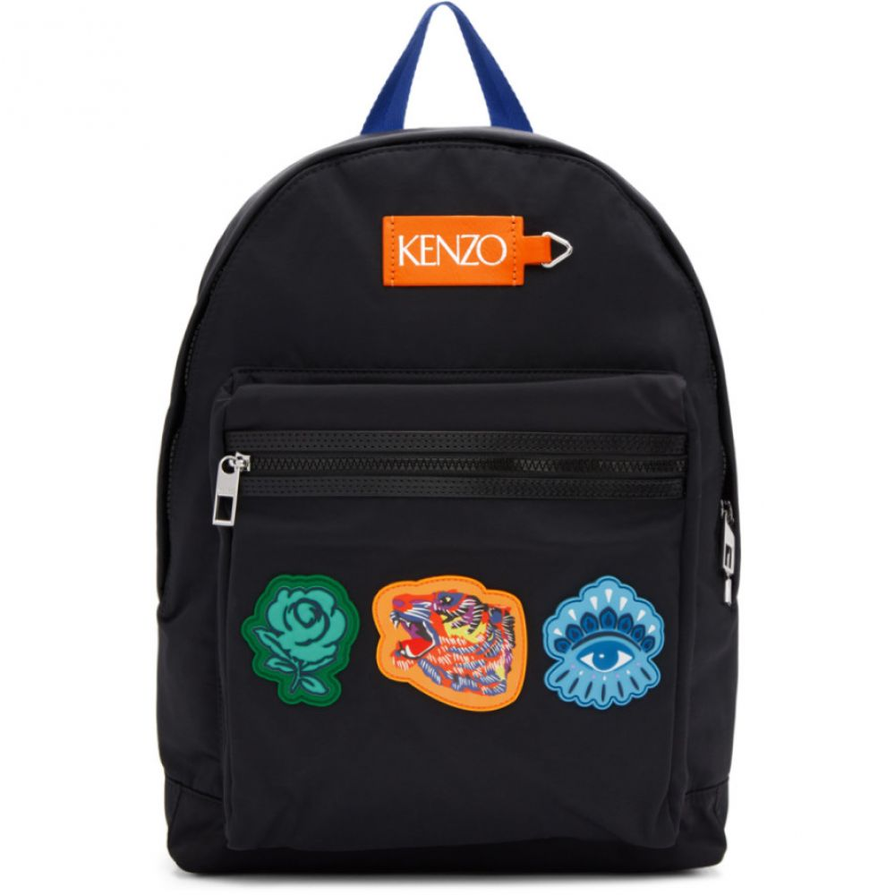 b368874a9784 ケンゾー Kenzo レディース バッグ バックパック・リュック【Black Go Tigers Capsule Backpack】
