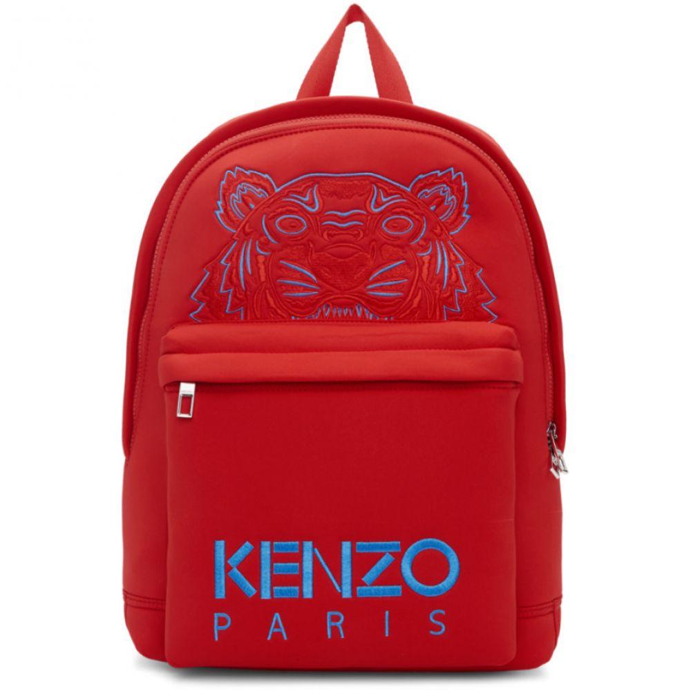 ケンゾー Kenzo メンズ バッグ バックパック・リュック【Red Neoprene Large Tiger Backpack】