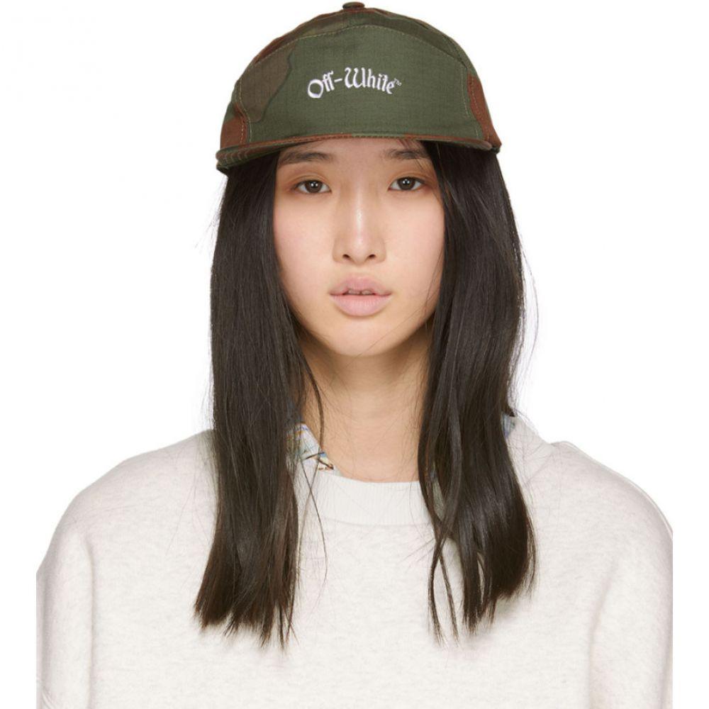 オフ-ホワイト Off-White レディース 帽子 キャップ【Green & Brown Camo Snap Cap】