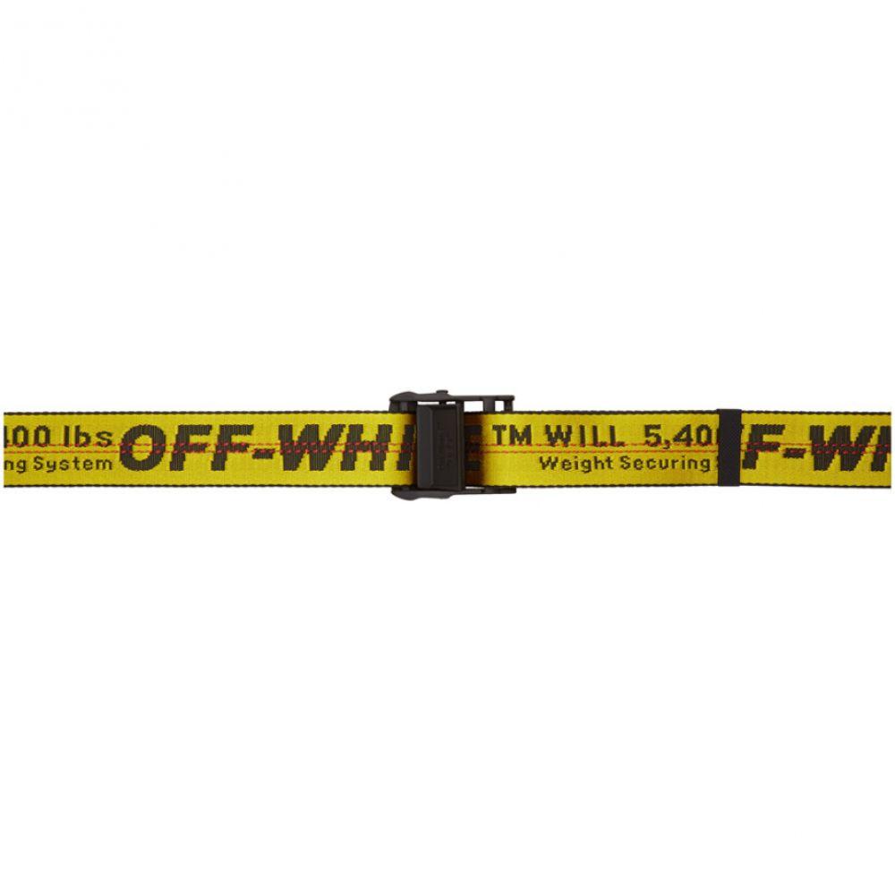 オフ-ホワイト Off-White メンズ ベルト【Yellow Industrial Belt】