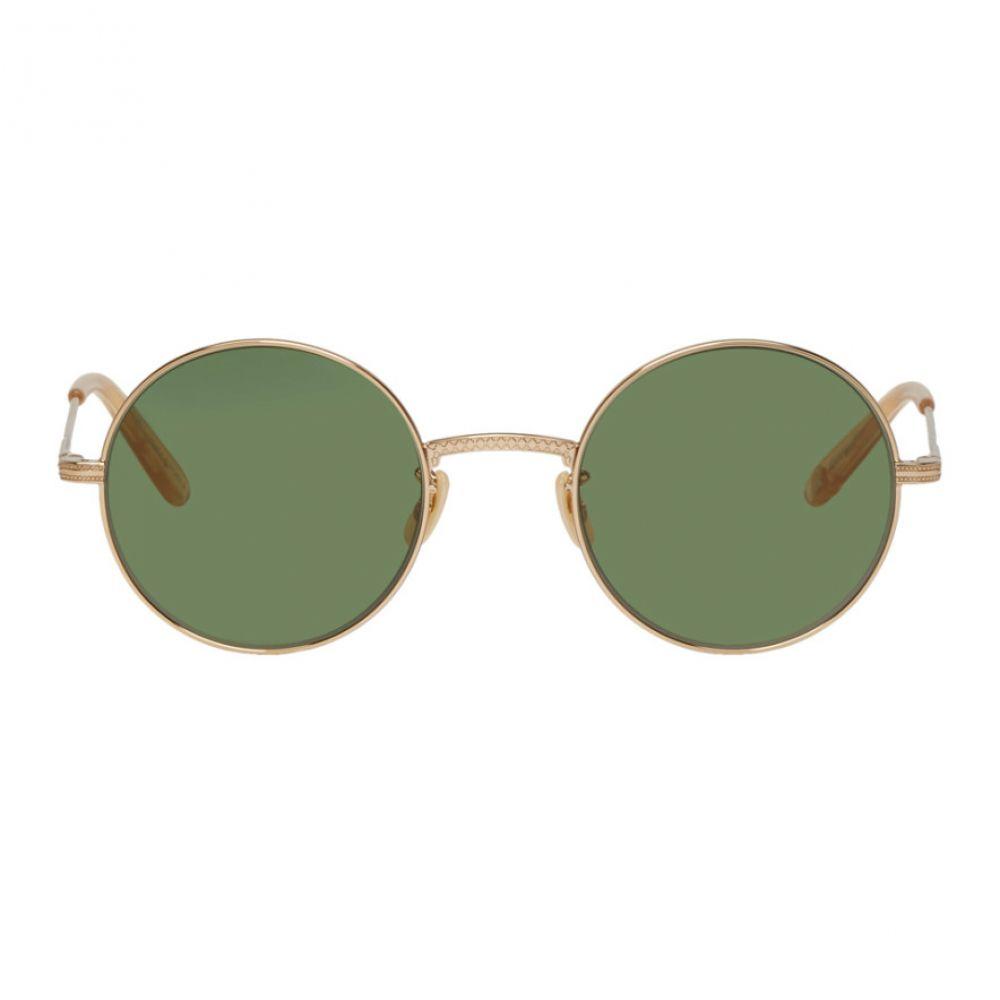 ギャレットライト Garrett Leight メンズ メガネ・サングラス【Gold & Green Seville Sunglasses】
