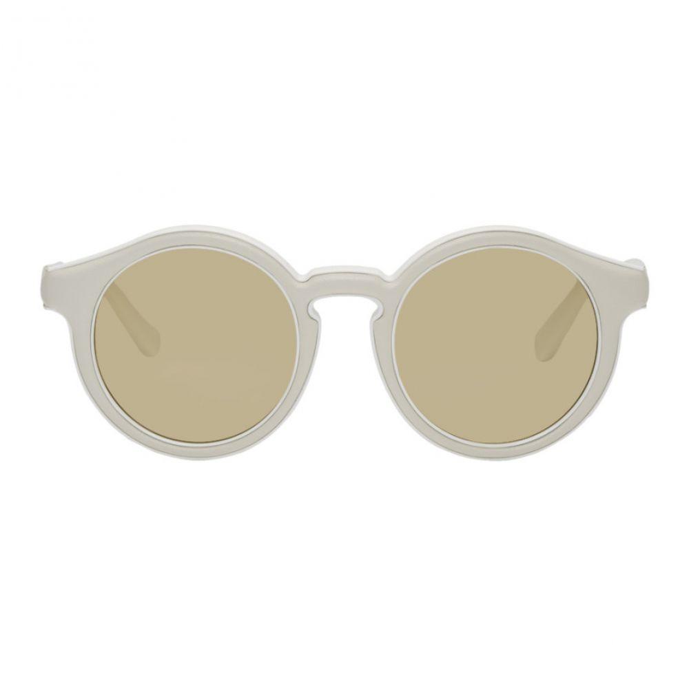 ロエベ Loewe レディース メガネ・サングラス【White Round Padded Sunglasses】