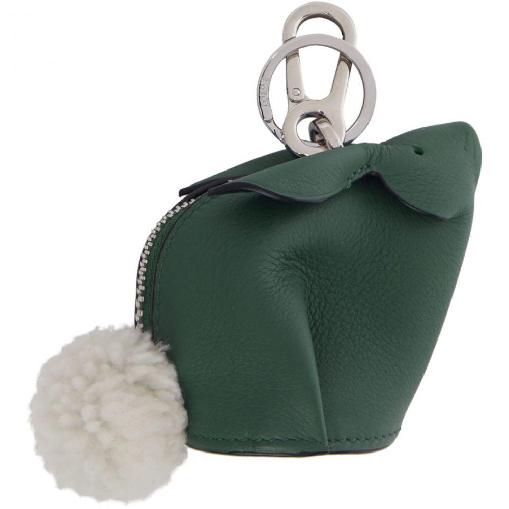 ロエベ Loewe メンズ キーホルダー【Green Bunny Charm Keychain】