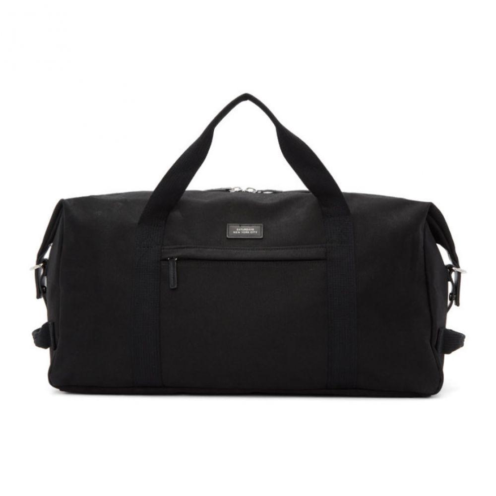 サタデーニューヨーク Saturdays NYC メンズ バッグ ボストンバッグ・ダッフルバッグ【Black Norfolk Hold All Duffle Bag】