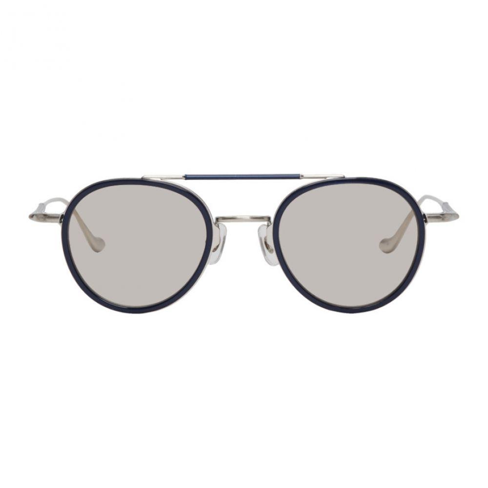 マツダ Matsuda メンズ メガネ・サングラス【Silver & Navy Brushed M3064 Sunglasses】