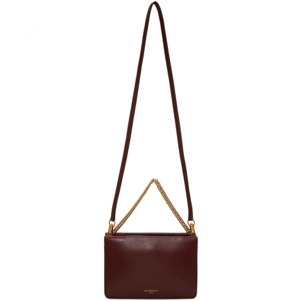 ジバンシー Givenchy レディース バッグ ショルダーバッグ【Burgundy & Grey Cross 3 Bag】