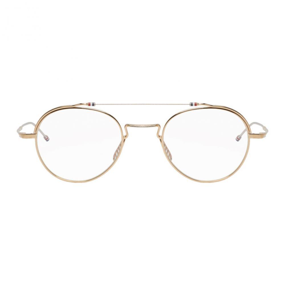 トム ブラウン Thom Browne メンズ メガネ・サングラス【Gold & Silver TBX912 Glasses】
