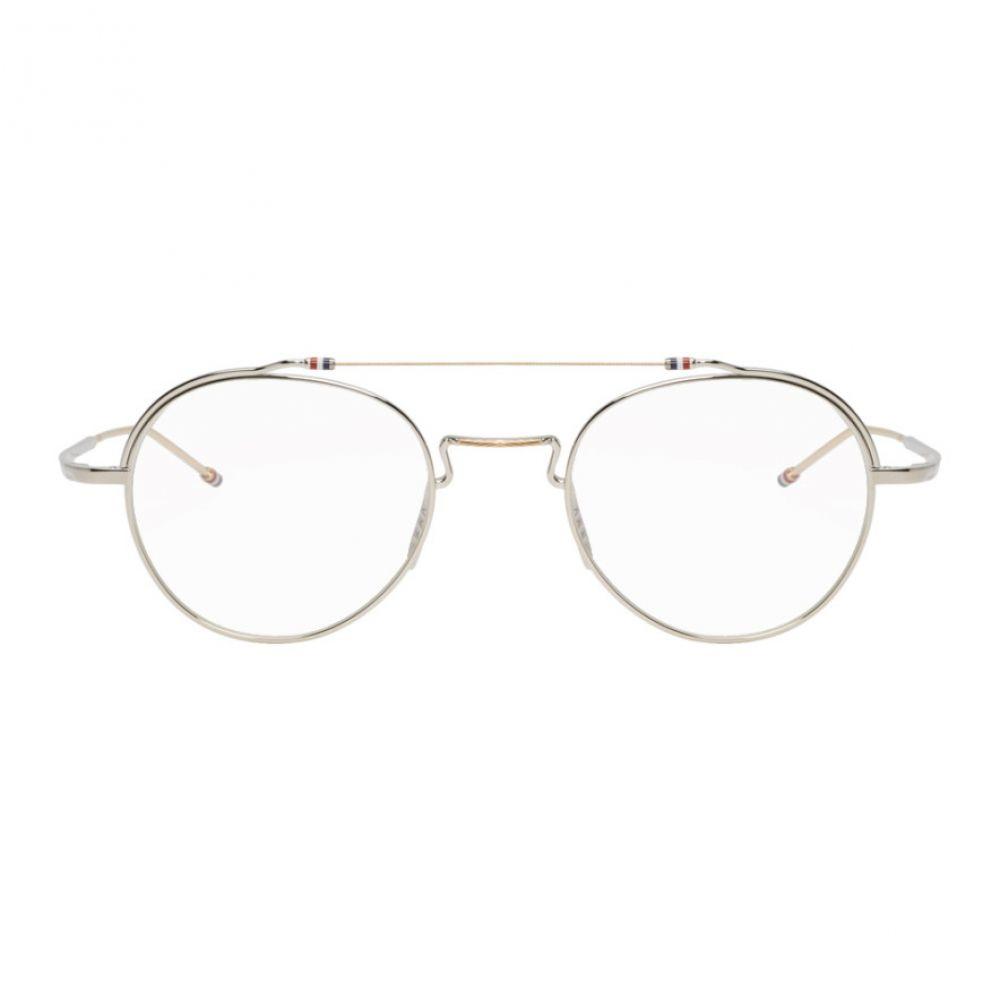 トム ブラウン Thom Browne メンズ メガネ・サングラス【Silver TBX912 Glasses】