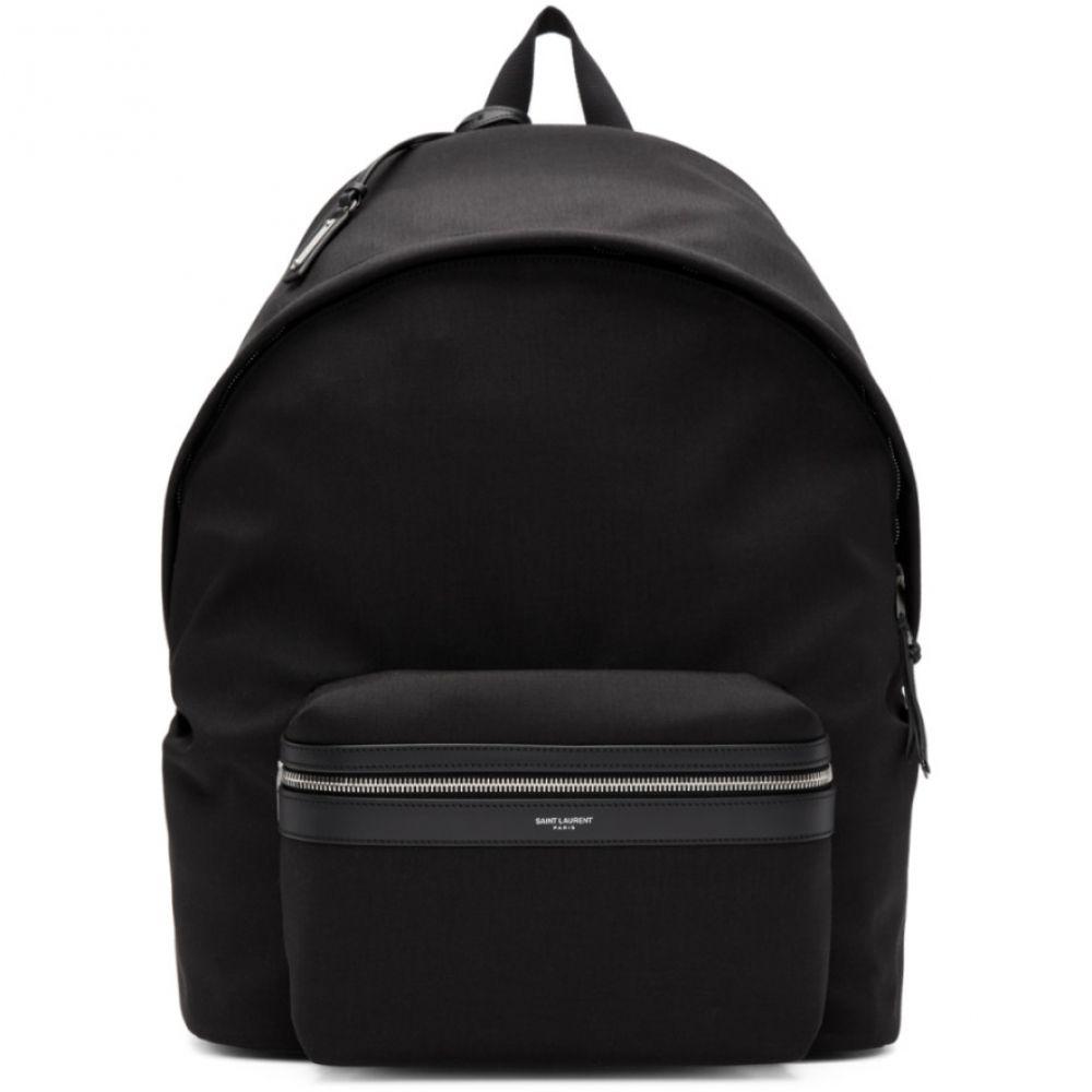 イヴ サンローラン Saint Laurent メンズ バッグ バックパック・リュック【Black Giant Canvas City Backpack】