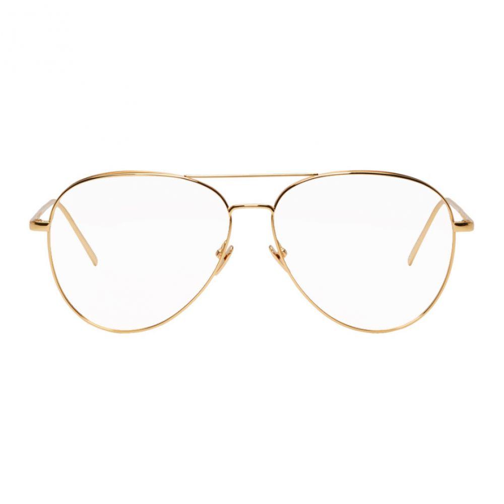リンダ ファロー Linda Farrow Luxe メンズ メガネ・サングラス【Gold 751 C1 Glasses】