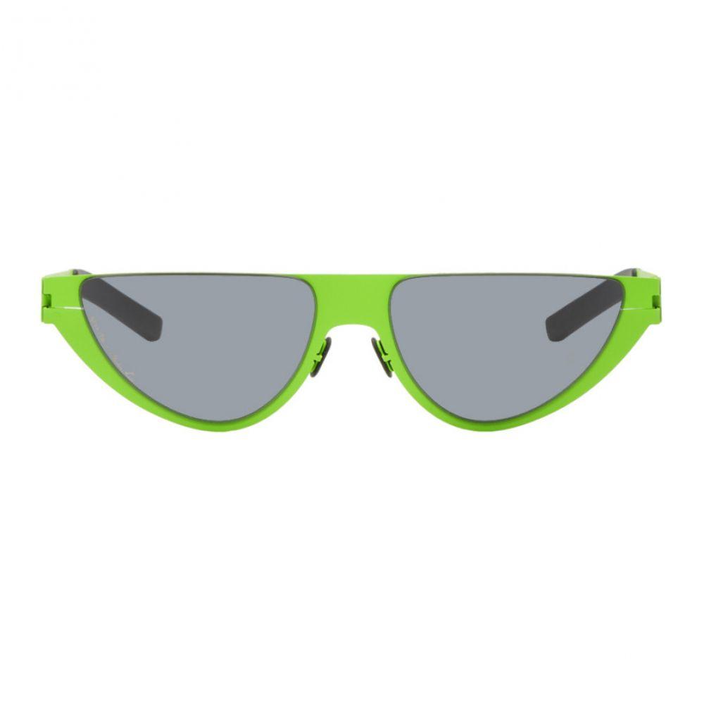 マーティン ローズ Martine Rose メンズ メガネ・サングラス【Green Mykita Edition Kitt Sunglasses】