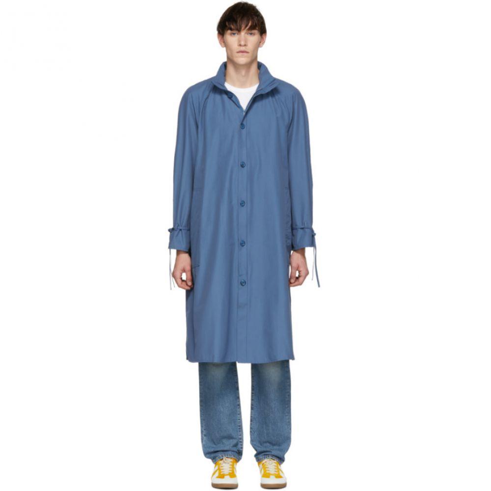 ビアンカシャンドン Bianca Chandon メンズ アウター レインコート【Blue Packable Hood Raincoat】
