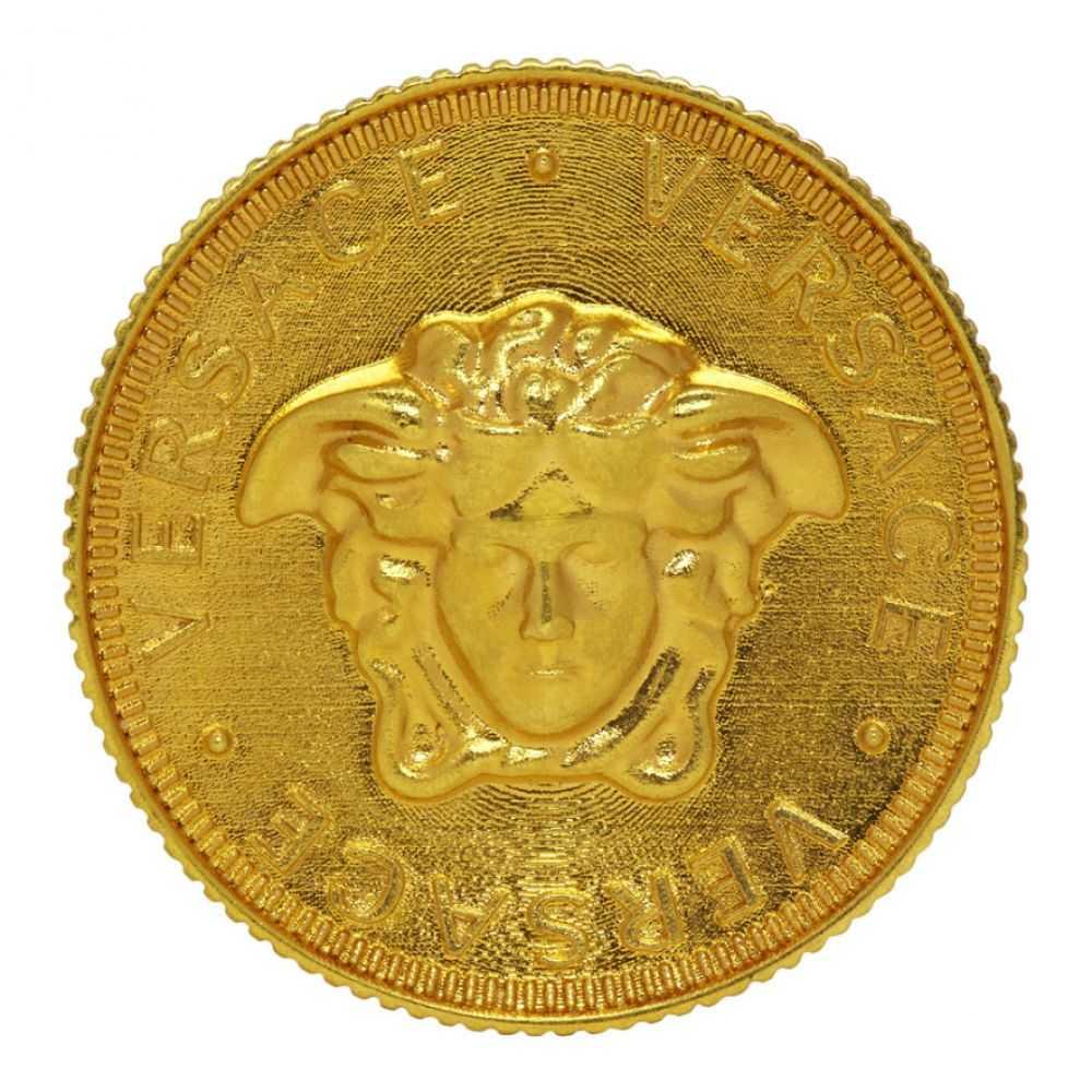 ヴェルサーチ Versace レディース ジュエリー・アクセサリー 指輪・リング【Gold Medusa Coin Ring】