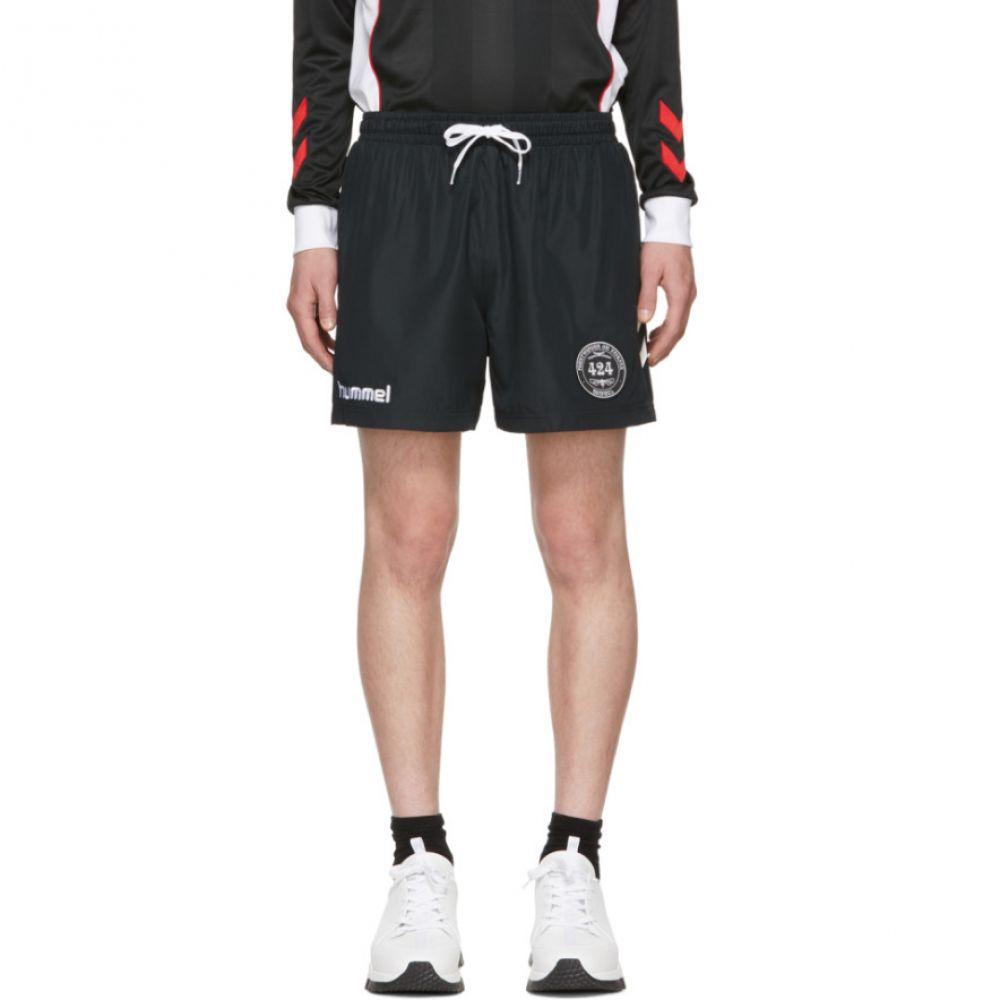 フォートゥーフォー 424 メンズ フィットネス・トレーニング ボトムス・パンツ【Black Hummel Edition Training Shorts】