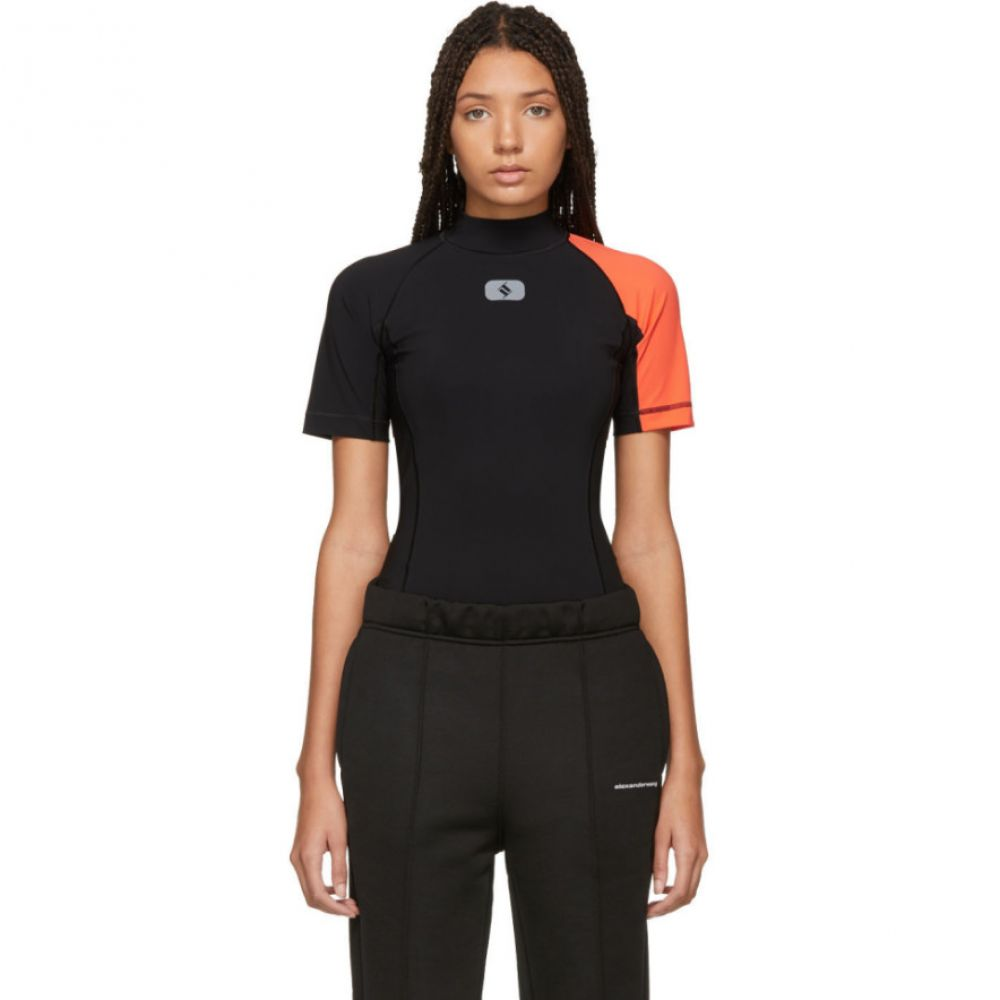 アレキサンダー ワン alexanderwang.t レディース インナー・下着 ボディースーツ【Black & Orange Swim Bodysuit】