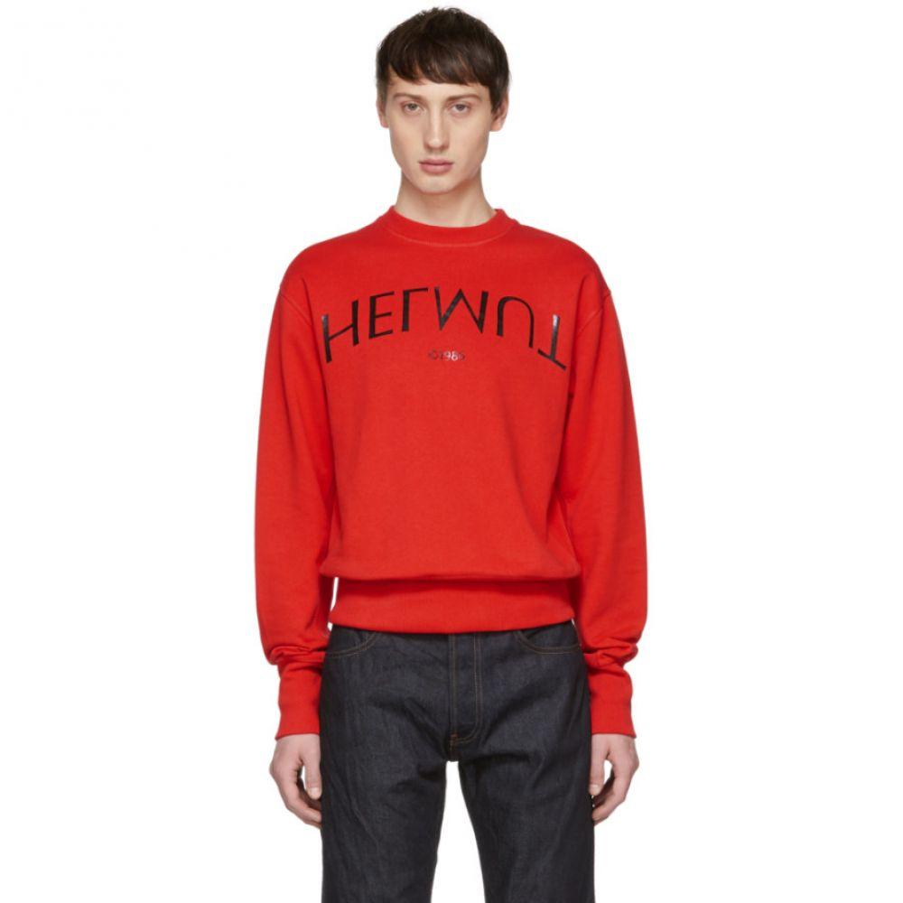 ヘルムート ラング Helmut Lang メンズ トップス スウェット・トレーナー【Red Logo Hack Standard Sweatshirt】