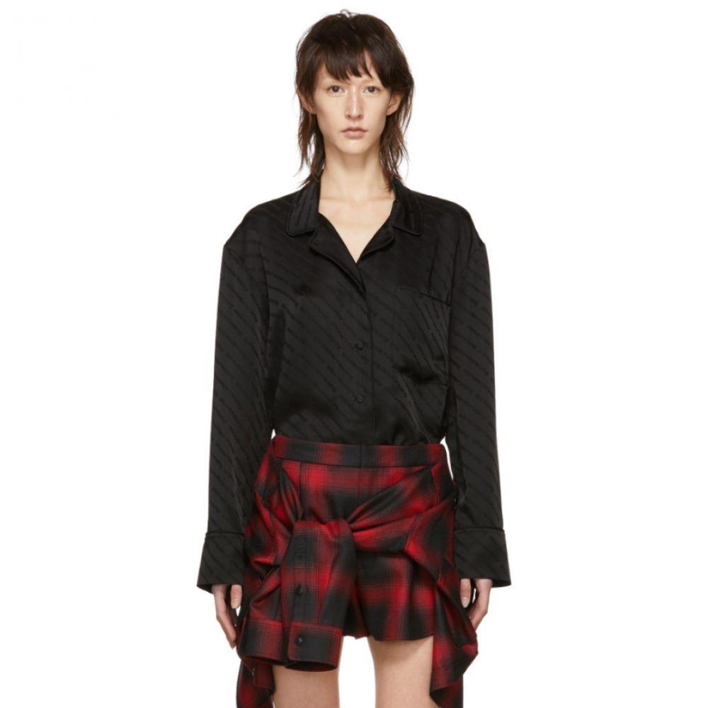 アレキサンダー ワン Alexander Wang レディース インナー・下着 パジャマ・トップのみ【Black Pyjama Long Sleeve Shirt】