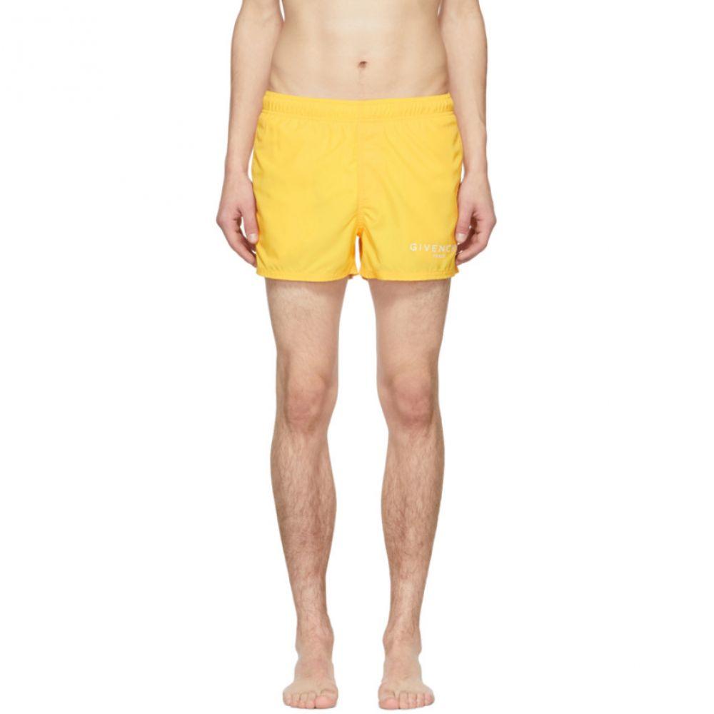 ジバンシー Givenchy メンズ 水着・ビーチウェア 海パン【Yellow Logo Swim Shorts】